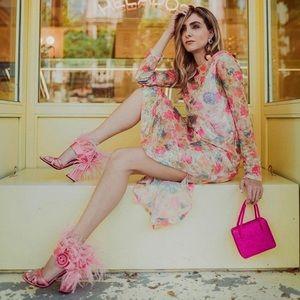 NWT Zara Print Sequin Dress